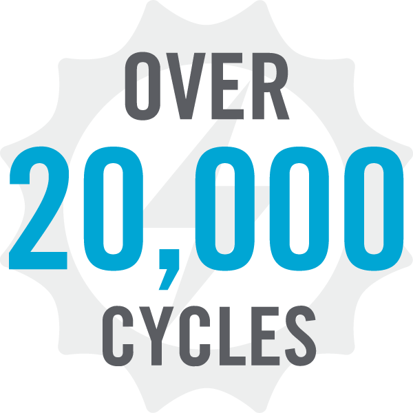 Ess benefit icon - over 20,000 cycles