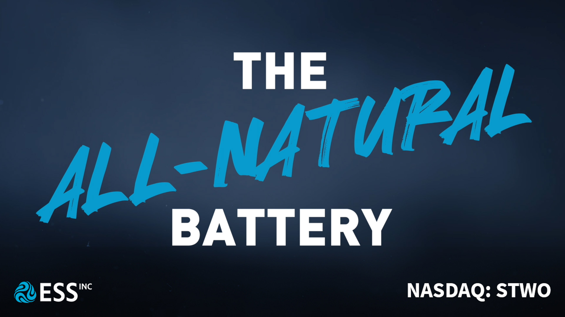 Ess all-natural battery video screen